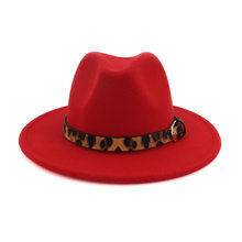 20 ชิ้น/ล็อตฤดูหนาวหมวกเด็กเสือดาวเด็กหญิงหมวกปรับ Jazz Fedora หมวกเด็กหมวก Bowler หมวกที่กำหนดเอง 54 ซม.(China)