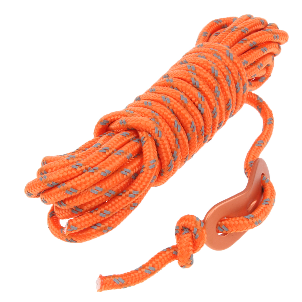 4mm Reflective Tent Guide Rope Guy Line Cord, Essential Camping Survival Gear Accessories