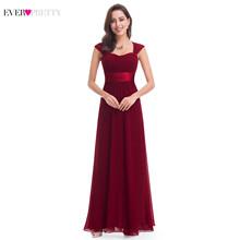 فساتين وصيفة الشرف باللون الوردي 2019 من Ever Pretty 08834 طويلة من الشيفون 4 ألوان رخيصة لحفلات الزفاف فساتين وصيفة العروس هدايا الزفاف(China)