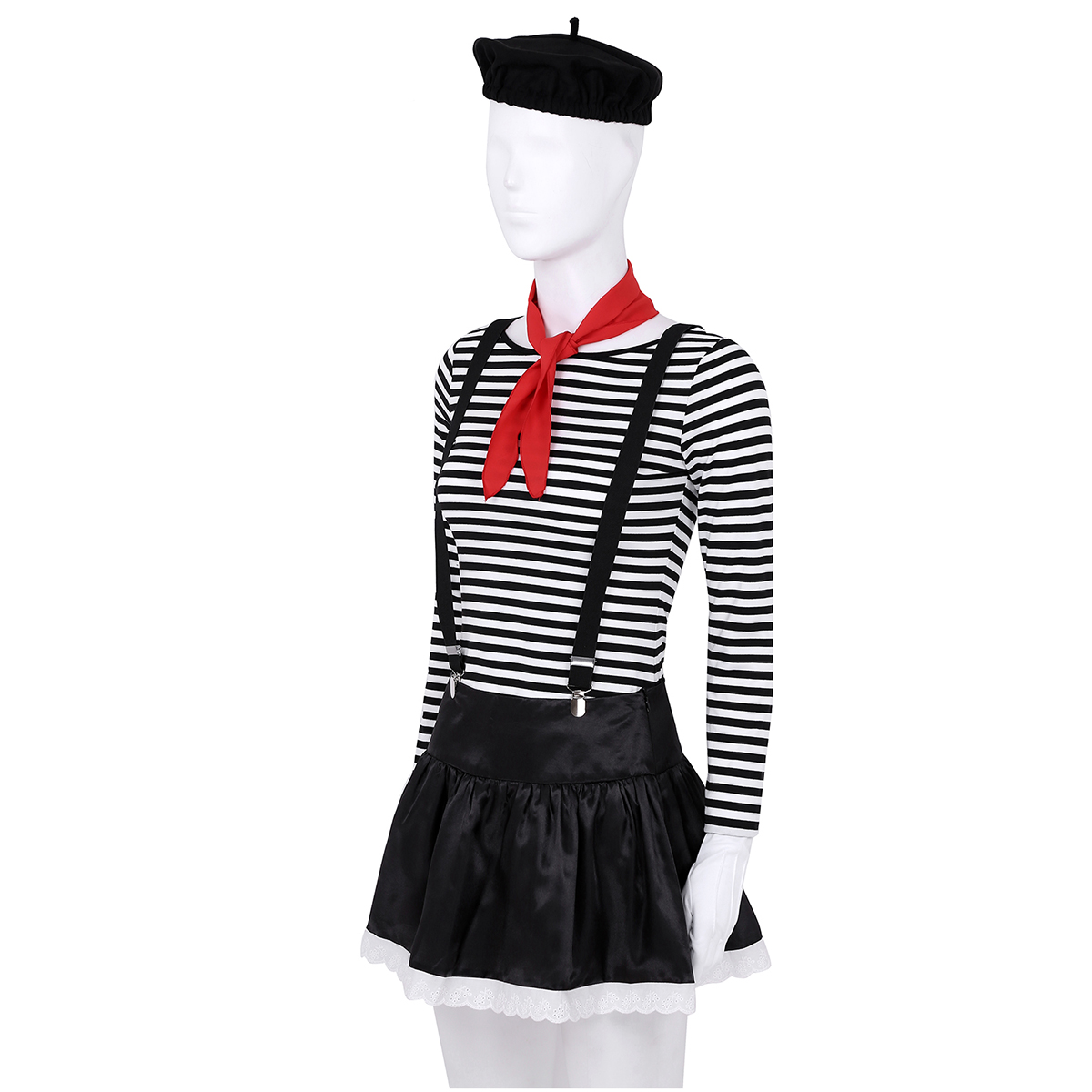 Pantomime Circus Clown Fancy Costume Multi-Color Fancy Dress For Adults Unisex