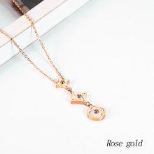Biżuteria łańcuszek ze stali nierdzewnej spersonalizowane kobiece choker złoty długi naszyjnik kobiety chocker neckless akcesoria(China)