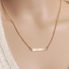 Europejska i amerykańska biżuteria liść łańcuszek do obojczyka marka temperament osobowość moda proste koło naszyjnik tabliczka kobieta(China)