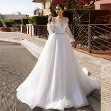 Verngo Una Linea di Abito Da Sposa Backless Abiti Da Sposa Elegante Abito Da Sposa Con Maniche Lunghe Abito Da Sposa(China)