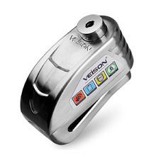 VEISON Motor Tahan Air Alarm Kunci Sepeda Steelmate Kunci Cakram Peringatan Keamanan Anti Pencurian Rotor Rem Gembok Alarma Moto(China)
