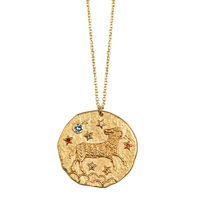 HAWCOAR necklace women gold long stainless steel necklace luxury women jewelry Fashion Round Pendant Constellation Necklace(China)