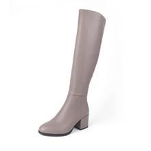 Sophitina Thoải Mái Mũi Tròn Giày Da Bò Cao Cấp Gót Vuông Dây Kéo Thời Trang Nam Nữ Mới Chắc Chắn Giày SC203(China)