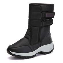 STQ Mùa Đông 2019 Ủng Nữ Mắt Cá Chân Giày Bốt Nữ Da Lộn Ấm Sang Trọng Nữ Giày Nữ Chống Thấm Nước Flat 1618(China)