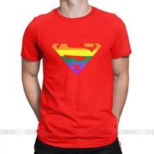Super Aneh T Kemeja Rainbow Gay Lesbian Kebanggaan LGBTQ LGBT Plus Ukuran Pakaian Lengan Pendek O Leher Kapas atasan(China)