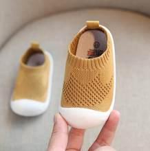 2019 אביב תינוק פעוט נעלי בנות בנים מקרית רשת נעלי רך תחתון נוח החלקה ילד תינוק ראשון הליכונים נעליים(China)
