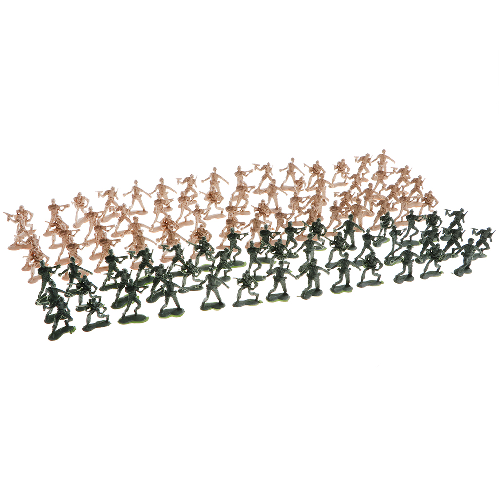 100 x Military Army Soldiers Toy Set, Model Figures for Kids, Pretend Play Educational Toys