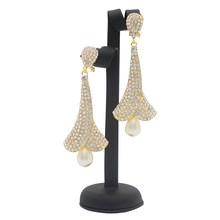 ทองแดงทองแดงต่างหูจี้เครื่องประดับออกแบบใหม่สำหรับแอฟริกันผู้หญิงต่างหูงานแต่งงานของข...(China)