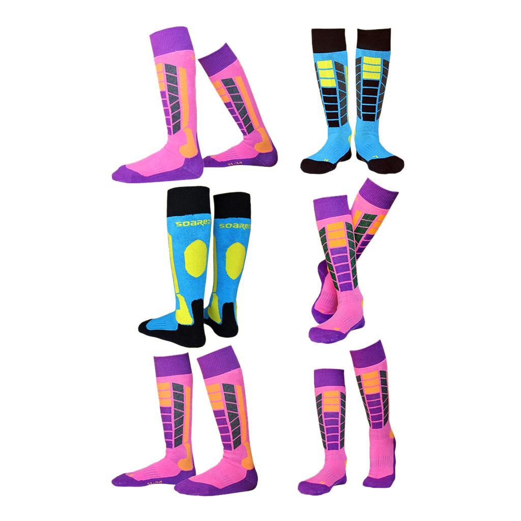 1 Pair Outdoor Thermal High Performance Ski Snowboard Hiking Walking Long Ski Socks Winter Thermal Socks