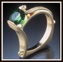 S925 Sliver บริสุทธิ์อัญมณี Topaz แหวนผู้หญิงผู้ชายแฟชั่น Anillos งานแต่งงาน Hip Hop(China)