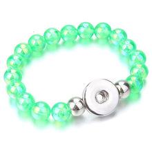 Nowy przystawki biżuteria przystawki przycisk bransoletka Handmade 10mm koraliki Fit 18mm 20mm zatrzaski przycisk bransoletki i Bangles dla kobiet ZE201(China)