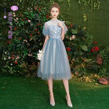 Женское платье подружки невесты It's Yiiya R222, Элегантное свадебное платье с длинным рукавом и круглым вырезом, длина до колен, Vestido De Festa 2020(China)