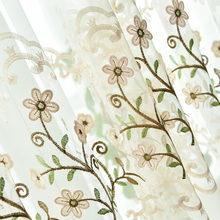 Шторы с вышитыми цветами, занавески для гостиной, занавески на окна, роскошные серые занавески для гостиничной спальни, шенилловая занавеск...(China)