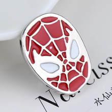Super Hero Captain America Bros Avengers Set Perisai Bulat Merah Enamel Lencana Fashion Bros Pin untuk Wanita penggemar(China)