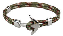 Pulsera de cadena de cuerda de color azul y negro para mujer, regalos de estilo marino(China)