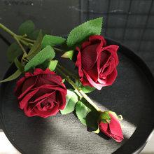 INS фланелевая Жемчужная роза, украшение для дома, Свадебный держатель для боке, растения, стена, искусственный цветок(Китай)