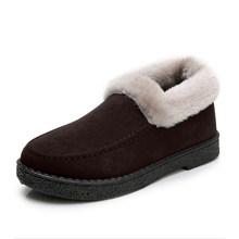 Kadın kış düz sıcak kürk kar botları yarım çizmeler kadın süet bayanlar platformu kısa kürklü peluş kadın rahat ayakkabılar moda(China)
