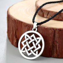 CHENGXUN Norse viking smoki wisiorek naszyjnik mężczyźni czerwony kamień Amulet słowiański starożytny zwierząt runy oryginalna biżuteria talizman(China)