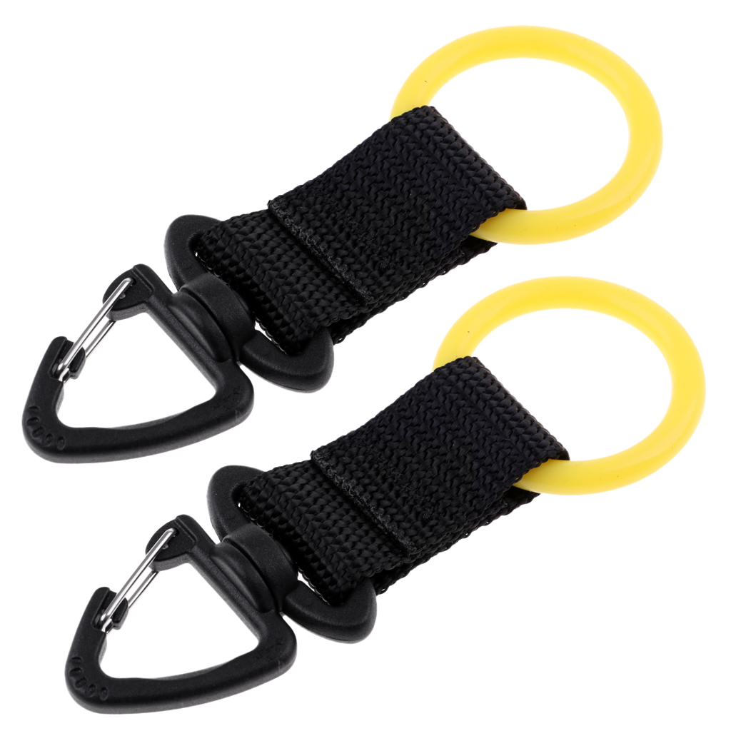 2Pcs Deluxe Scuba Diving Webbing Regulator Octopus Mouthpiece Holder Attached with Swivel Clip