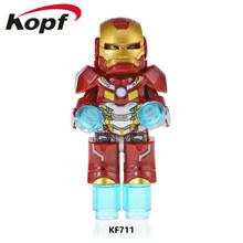Super Heróis Figuras de Super-heróis homem de ferro armadura personagem do filme Figura modelo de Blocos de Construção Tijolos Brinquedos para As Crianças Presentes(China)