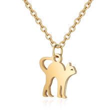 Acier inoxydable 316L collier or femmes bijoux ras du cou 40cm + ange plume collier Lotus Chakra coeur étoile Fatima jamais changer(China)