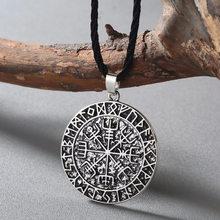 CHENGXUN Guidepost kompas naszyjnik talizman Viking starszy Futhark wisiorek Valknut Pagan Amulet Vegvisir skandynawski Norse prezent(China)