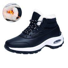 Oeak Vrouwen Herfst Winter Hoge Buis Schoenen Casual Lace-up Platform Schoenen Outdoor Klimmen Sneakers Wandelen Katoenen Schoenen Botas(China)