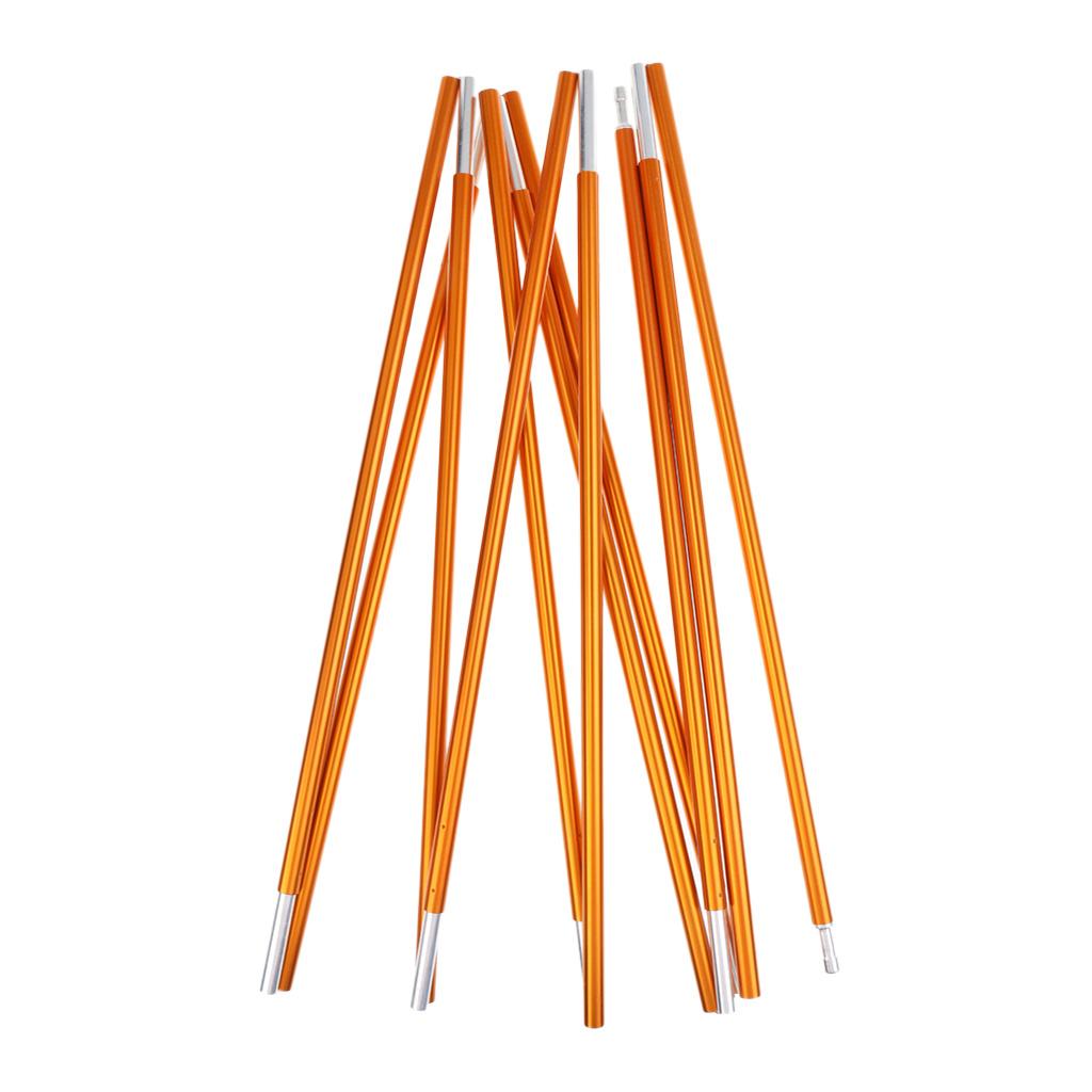 High Strength Lightweight Aluminum Alloy Tent Pole Rod Bar 11 Sections 355cm Φ8.5mm