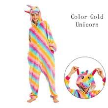 Animais unicórnio traje adulto menina crianças unicórnio leão onesias flanela ponto feminino anime macacão disfarce terno onepiece(China)