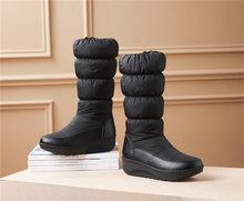 FEDONAS Frauen Mid-kalb Stiefel 2020 Neue Winter Halten Lange Warme Runde Kappe Weiblichen Schnee Stiefel Seite Zipper Plattformen casual Schuhe Frau(China)