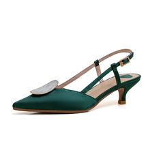 Meotina wysokie obcasy kobiety pompy jedwabne klamry buty na obcasie pantofle buty moda płytkie szpiczaste buty z palcami pani duży rozmiar 33-42(China)