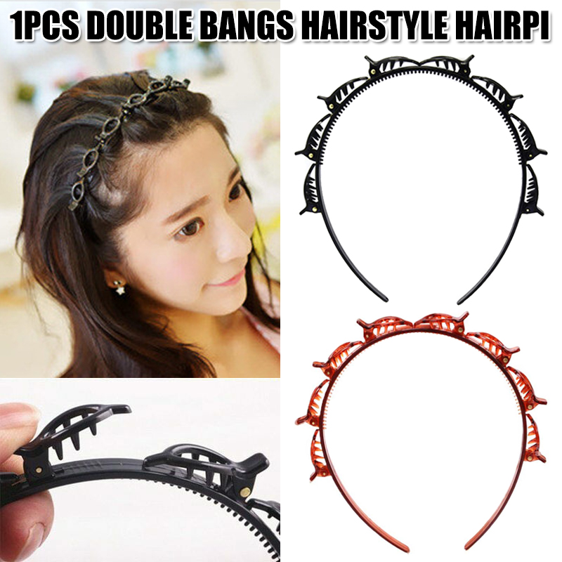 Women Double Bangs Hairstyle Hairpin Hair Clips Accessories Q6M7