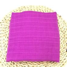 新生児おくるみラップアクティブ印刷無地ベビー毛布新生児モスリン綿 100% 幼児毛布バスタオル寝具(China)