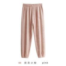 Mùa Thu Đông Ấm Dép Nỉ Nữ Pyjamas Bộ Dày Nhung San Hô Dài Tay Hoạt Hình Đồ Ngủ Mỏng Dép Nỉ Bộ Đồ Ngủ Bộ Cho Bé Gái(China)