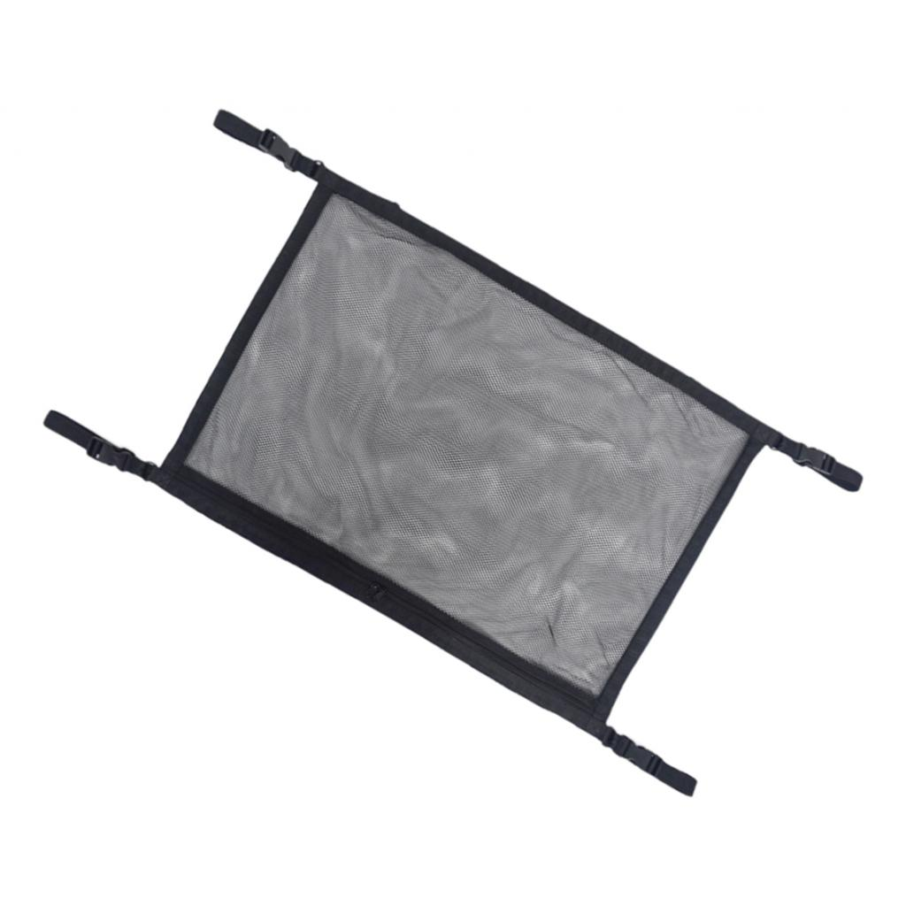 Car Roof Storage Bag Breathable Trunk Mesh Organizer Easy To Install