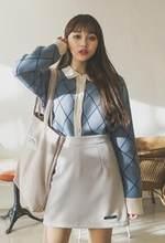נשים סתיו חורף ארגייל סוודר מעיל סרוג קרדיגן ארוך שרוול מקרית למשוך Femme ג 'רזי Sueter Mujer + גברות(China)
