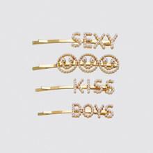 Dvacaman ZA Daisy pince à cheveux ensemble pour femmes luxe cristal simulé perle Barrettes bébé filles cheveux accessoires bijoux en gros(China)
