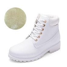 חורף מגפי נשים נעלי 2019 חם פרווה בפלאש סניקרס נשים שלג מגפי נשים שרוכים קרסול מגפי חורף נעליים אישה botas mujer(China)