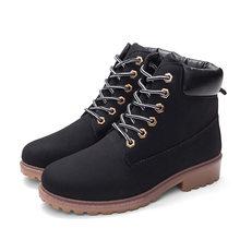 Rahat martin kış çizmeler kadın ayakkabıları 2019 sonbahar kış ayakkabı kadın kare topuk kar botları sıcak kadın çizmeler ayak bileği Botas topuklu(China)