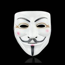 Film Cosplay V pour Vendetta Hacker masque anonyme Guy Fawkes Halloween fête de noël cadeau pour adultes enfants Film thème masque(China)