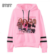 BLACKPINK Hoodie Kpop Womens Long Sleeve Tops Harajuku Women Sweatshirt Pullovers Pink Clothing Jennie Rose Lisa Jisoo Warm(China)