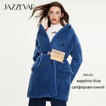 Jazzevar 2019 inverno nova chegada casaco de pele feminina solto roupas de alta qualidade estilo meados de comprimento grosso casaco de inverno quente k9064(China)