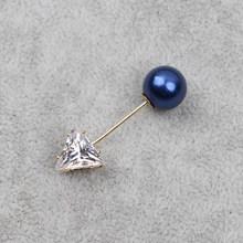 Fashion Pesona Double Disimulasikan Mutiara Bros Pin untuk Wanita Kerah Bros Perhiasan Gaun Bunga Kristal Pin Bros(China)