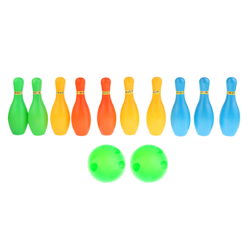 Kid Child Bowling Set 10 Pins 2 Balls Children Toys Indoor Sport Game Toys Home Play