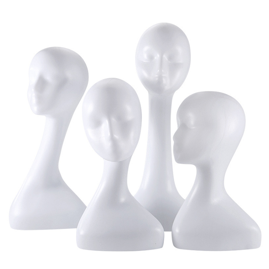 1 Piece Durable And Sturdy Freestanding Abstract Wigs Hats Display Mannequin Head Model For Salon Or Shop