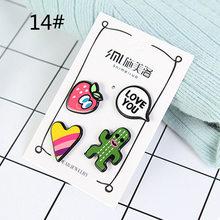 Lnrrabc Baru Kerah Bentuk Mata Perhiasan Kemeja Bibir Korsase Kartun Red Hand Seksi Dijual Bros Pin Hot Sale Anak-Brocade(China)