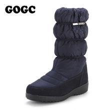 GOGC kar botları kadınlar için Rhinestone yüksek kalite kış botları kadın su geçirmez kaymaz alt kışlık botlar bayan botları 9854(China)
